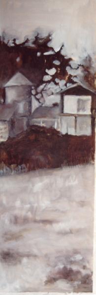 casa Neruda 120x40 oleo-tabla