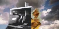 cielo 03 el lugar donde habitan los sueños 97x195 imp. digital y oleo - lienzo