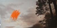 cielo 04 pintar el viento 97x195 imp. digital y oleo - lienzo