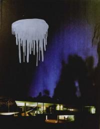 nocturno 01 del cielo cae la noche 146X114 imp. digital y purpurina - lienzo