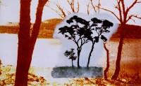 paisaje h. 01 el mundo no es un lugar.89x146 imp. digital y oleo - lienzo