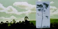 paisaje h. 03 un domingo cualquiera II 97x195 imp. digital y oleo - lienzo