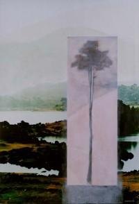 paisaje v. 01 las montañas son un sentimiento 195X130 imp. digital y oleo - lienzo
