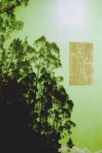 paisaje v. 02 tardes calurosas de verano 195X130 imp. digital, pan de oro y oleo - lienzo
