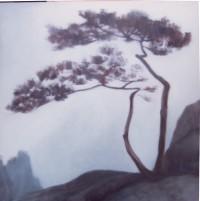 pinos cuadrado 100x100 oleo-lienzo