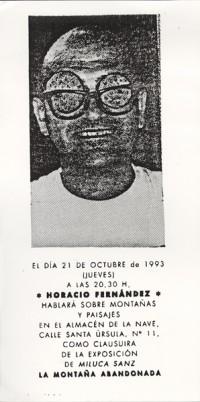 LA MONTAÑA ABANDONADA conferencia Horacio