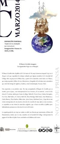 Viajes con el Marqués – Museo Cerralbo invitación 1+ nota de prensa copia