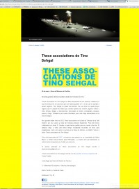 Tino Sengal - These Asociations Performance Play Dramaturgia